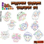 Halloween Faces Colorlines Collection