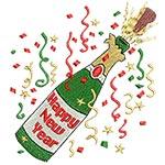 Happy New Year Bottle 4X4