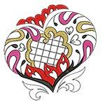 Elegant Ornament Hearts 01