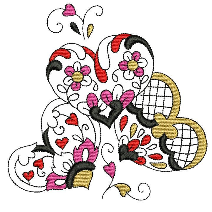 Elegant Ornament Hearts 02