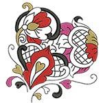 Elegant Ornament Hearts 03