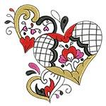 Elegant Ornament Hearts 04