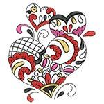 Elegant Ornament Hearts 05