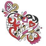 Elegant Ornament Hearts 07