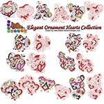 Elegant Ornament Hearts Collection