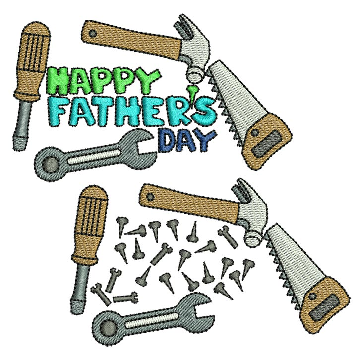 Father\'s day: Tools - BabyNucci Embroidery Designs