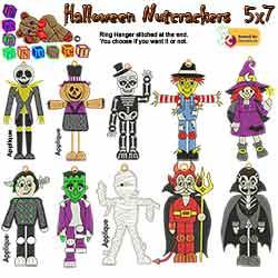Halloween Nutcrakers 5X7