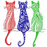 3 Color Cats 4X4