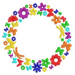 Circles of Flowers 00