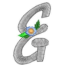 Alphabet Flowers - &
