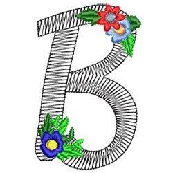 Alphabet Flowers - B