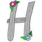 Alphabet Flowers - H