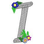 Alphabet Flowers - I