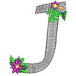Alphabet Flowers - J