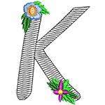 Alphabet Flowers - K