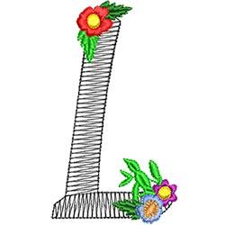 Alphabet Flowers - L