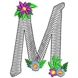 Alphabet Flowers - M