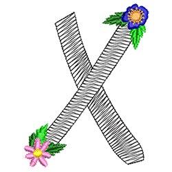 Alphabet Flowers - X