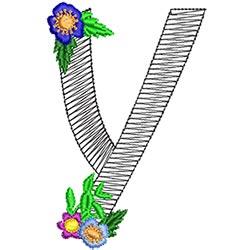 Alphabet Flowers - Y