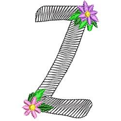 Alphabet Flowers - Z