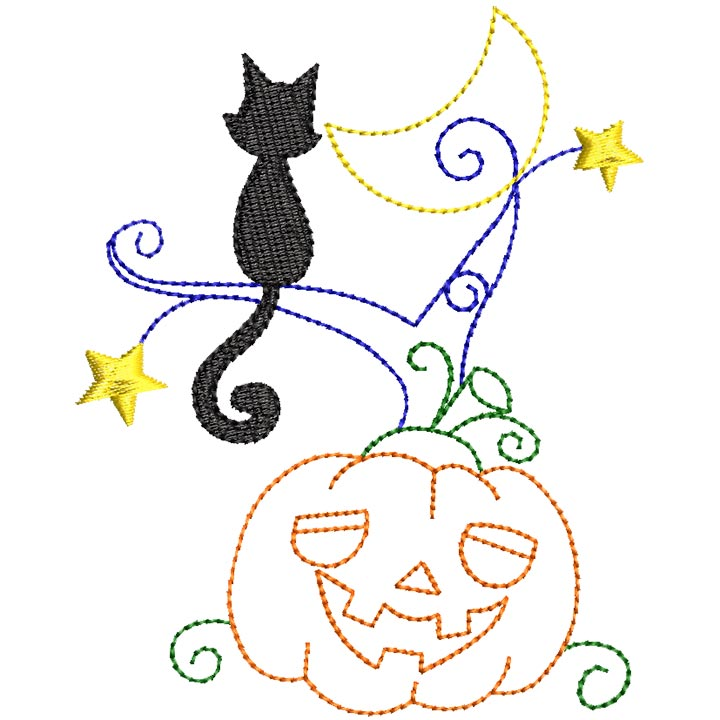 Halloween cats Bluework and Colorlines 09