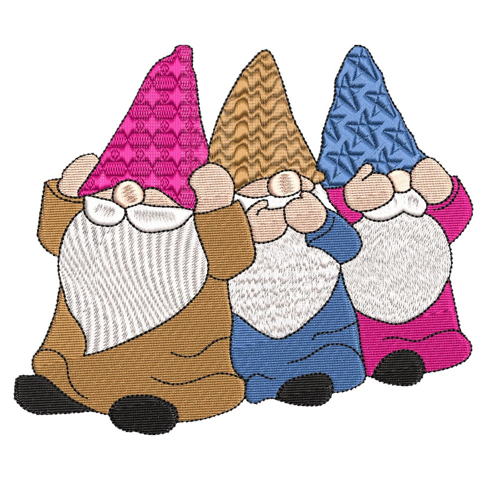 Gnome 05 see no evil, hear no evil, speak no evil