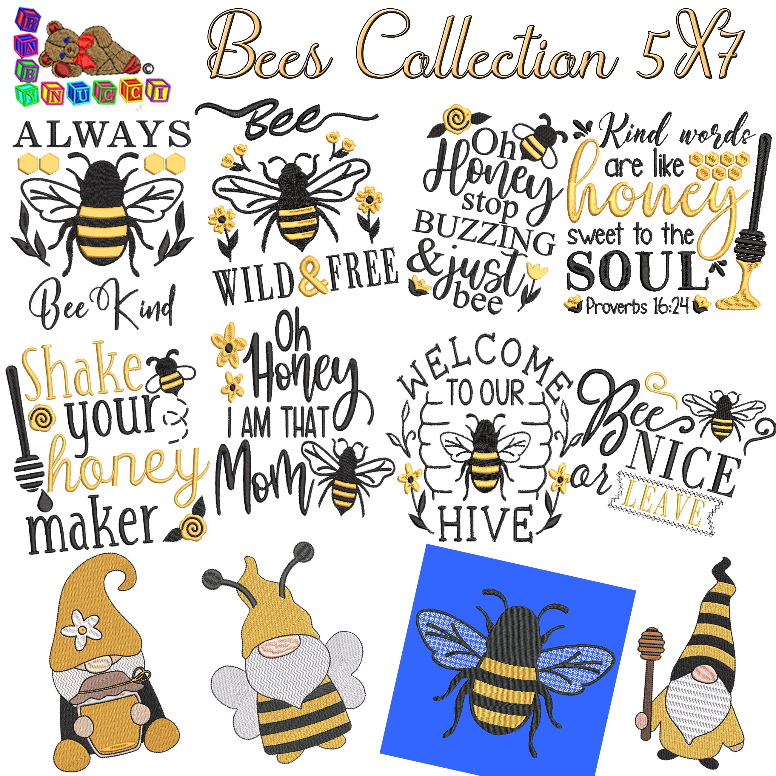 Bees Collection 5X7