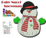 BabyNucci Snowman 5x7