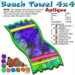 Beach Towel Beach Collection 4x4
