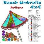 Beach Umbrella Beach Collection 4x4