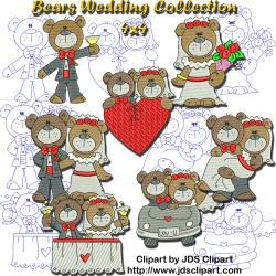 Bears WeddingCollection 4x4