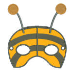 Bee Mask Multi Hoop (2) 5x7 AllFormats