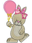 Birthday Bunny 1 Applique 4x4