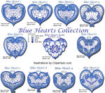 Blue Hearts Collection 4x4