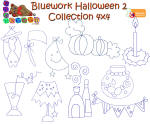 Bluework Halloween 2 4x4 Collection