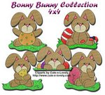 Bonny Bunny Embroidery Collection 4x4