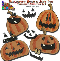 Halloween Build a Jack Pro Embroidery Collection 4x4