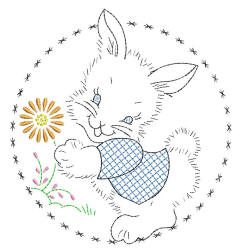 Bunny Hand Embroidery Style
