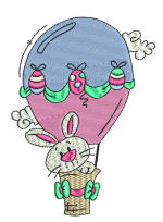 Bunny Hot Air 5x7