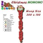 CHRISTMAS HOHOHO EMBROIDERY DESIGN 300x180
