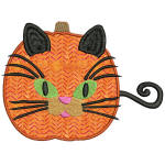 Calico Pumping Kitty Applique 5x7