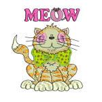 CAT PLUS MEOW 5x7