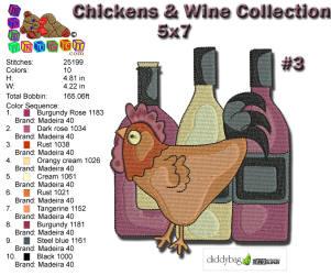 Wine & Chicken 3 5x7