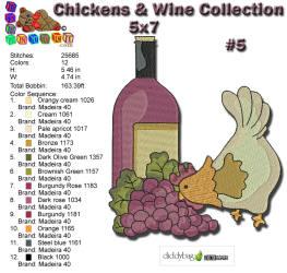 Wine & Chicken 5 5x7