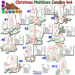 Christmas Multiline Candles 4x4