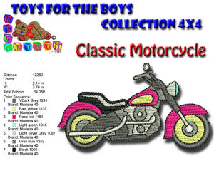 Toys for the Boys Classic Motorcycle 4x4