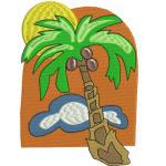 Coconut Palm 5x7