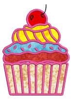 Cupcakes 09 Applique 4x4