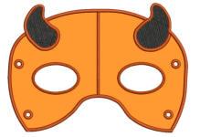 Devil Mask 5x7