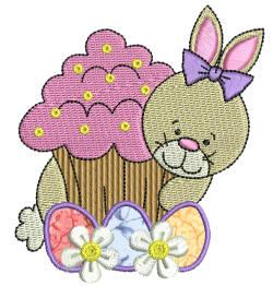 Easter Delight Bunny 1 Applique 4x4